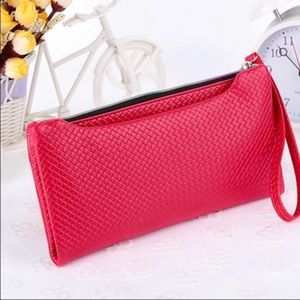 Handbags - Red Quilted Wristlet with Pockets